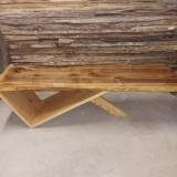 Masa cafea lemn masiv nuc