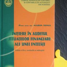 Initiere in auditul situatiilor financiare ale unei entitati Marin Toma