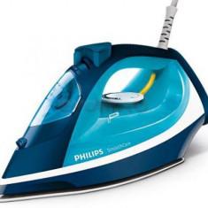 Fier de calcat Philips Smooth Care GC3582/20, Talpa Ceramica, 2400W, 0.4l (Alb-Albastru)