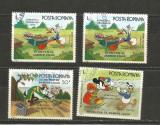 No(8)timbre-Romania 1986-L.P.1153-WALT DISNEY II-deparaiate