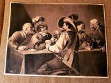 Tablou creion - carbune - semnat HL