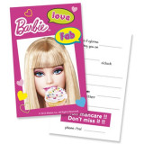 Invitatii petrecere Barbie Fabulous