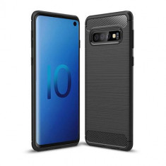 Husa Telefon Silicon Samsung Galaxy S10 g973 Black Carbon