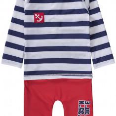 Costum de baie Swimpy copii, albastru/rosu, marimea 86-92 cm