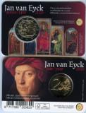 Moneda BELGIA 2 euro comemorativa 2020_Jan van Eyck, coin card, Europa, Cupru-Nichel