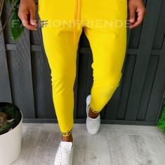 Pantaloni de trening pentru barbati - slim fit - galben - a6060