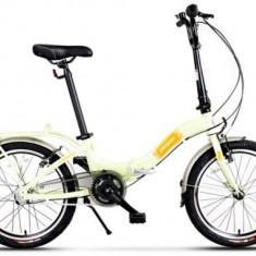 Bicicleta Pegas Camping 3S, Pliabila, Roti 20inch, 3 Viteze (Verde)