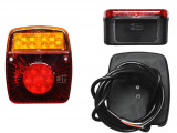 Lampa auto BestAutoVest pentru remorca cu leduri stg./dr. 12V , 121x101x56mm fara mers inapoi si ceata , 1 buc. Kft Auto