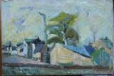 Virgiliu Parghel , Peisaj citadin , ulei / panza , semnat , datat 1979, Peisaje, Impresionism