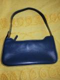 Mini poseta dama Guess gri albastrui inchis 25x13.5 cm, Bleumarin, Mica