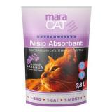 Cumpara ieftin Nisip litiera pisici, Maracat, Absorbant Silicat Lavanda, 3.8 L