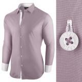 Camasa pentru barbati bleu gri bumbac regular fit Business Class Ultra