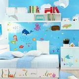 Autocolant decorativ camere copii Lumea sirenei