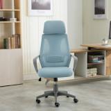 Scaun ergonomic, spătar mesh, tetiera, inaltime reglabila, EDPO 901 Bleu