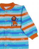 Salopeta / Pijama bebe cu dungi colorate Z82
