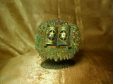 Menorah Torah iudaica, bronz Waneberg, colectie, cadou, vintage