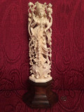 STATUETA FILDES INDIA - ZEUL SHIVA Dansand - Sculptata in detaliu -30cm -Vintage