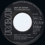 """Daryl Hall & John Oates - Out of touch (1984, RCA) Disc vinil single 7"""""""