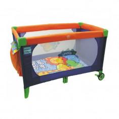 Patut pliabil pentru baieti Baby Mix Safari P665AL, Albastru