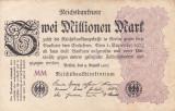 GERMANIA 2.000.000 marci 9 august 1923 VF!!!