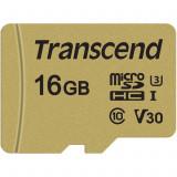 Card Transcend TS16GUSD500S microSDHC USD500S 16GB C + Adaptor
