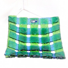 Leonardo Studio: Platou fructiera cristal smarald si safir, handmade - Germania
