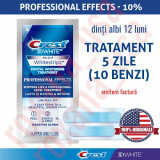 10x Benzi Albirea Dintilor Crest Whitestrips 3D Professional Effects