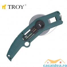 Ruleta de teren cu brat (50 m x 13mm) TROY