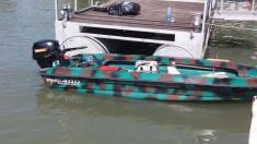Vand Barca Mikro 400 cu motor 15CP 4 timpi cu acte, achizitionate 2017 foto