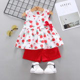 Costumas pentru fetite - Ananas rosu (Marime Disponibila: 2 ani)