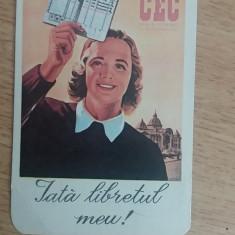 CCO 1972 - CALENDAR DE COLECTIE - TEMATICA RECLAMA - CEC - ANUL 1972