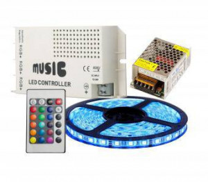 KIT BANDA LED RGB MUZICAL 5M 72W