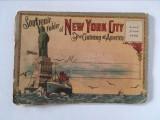 Carte postala veche acordeon Souvenir of New York City - America, plic 20 imag.