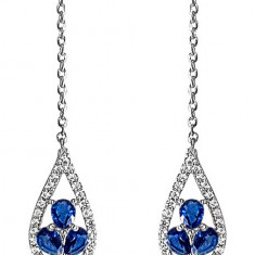 Cercei Crystal Drop Fine Blue