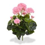 Muscata/Geranium artificiala buchet roz 40cm