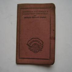 Carnet Brigadier al muncii voluntare RPR (doar coperta)