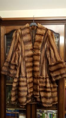 Haină blană marmotă foto