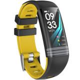Bratara Fitness iUni G26, Display OLED 0.96 inch, Bluetooth, Pedometru, Notificari, Galben