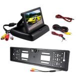 "Cumpara ieftin Kit 2 in 1, suport numar inmatriculare cu camera marsarier si monitor 4.3"" pliabil"