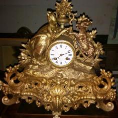 Impozant ceas de șemineu in stil francez