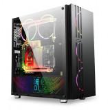 Carcasa Gaming Segotep Fenix, USB 3.0, Panou transparent, MiddleTower, Vent. 3x...
