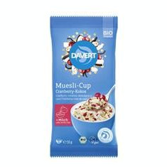 Musli cu Cocos si Merisor Cup Bio 55gr Davert Cod: 4019339637012