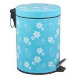 Cos gunoi cu pedala, Flower, 12L albastru, MN018589
