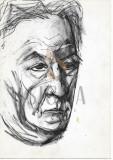TIA PELT, PORTRETUL LUI ISAC PELTZ ( tatal artistei ) , tus