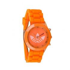 Ceas sport de dama, curea silicon - portocaliu + cutie CADOU!