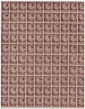 RO-188-Romania 1945=MIHAI-Uzuale 2 lei sepia-Lp 188-coala de 100 timbre h gri,, Nestampilat