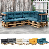 [en.casa]® Perna spate Paletten HTPC pentru mobilier paleti, 60 x 40 x 20/10 cm, poliuretan, turcoaz HausGarden Leisure, [en.casa]