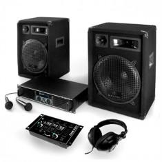 Electronic-Star DJ set PA 400W - sistem cu amplificator, difuzor și cabluri