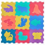 Puzzle podea cu animale 9 buc 31 x 31 cm