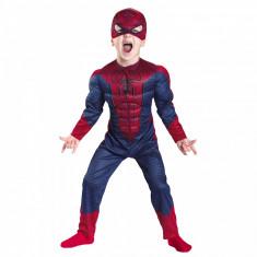 Costum Spiderman cu muschi pentru copii marime S 3 5 ani foto